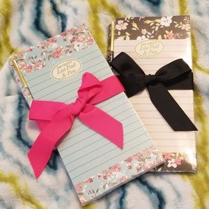 Other - 2 floral list pads with pens